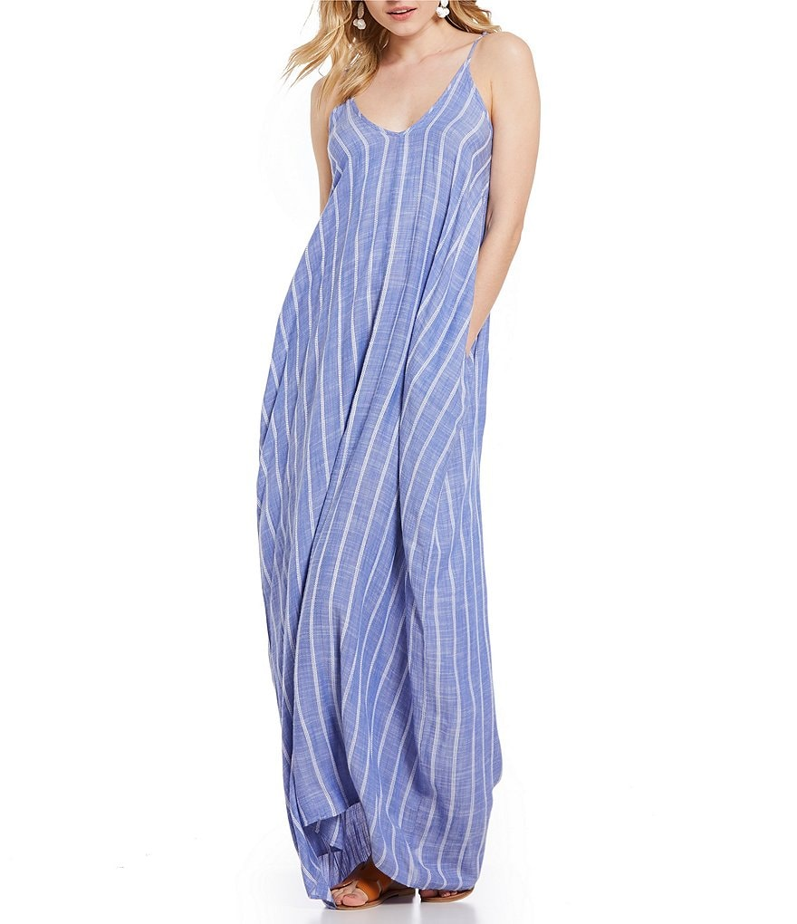 ELAN Stripe Maxi Bubble Dress