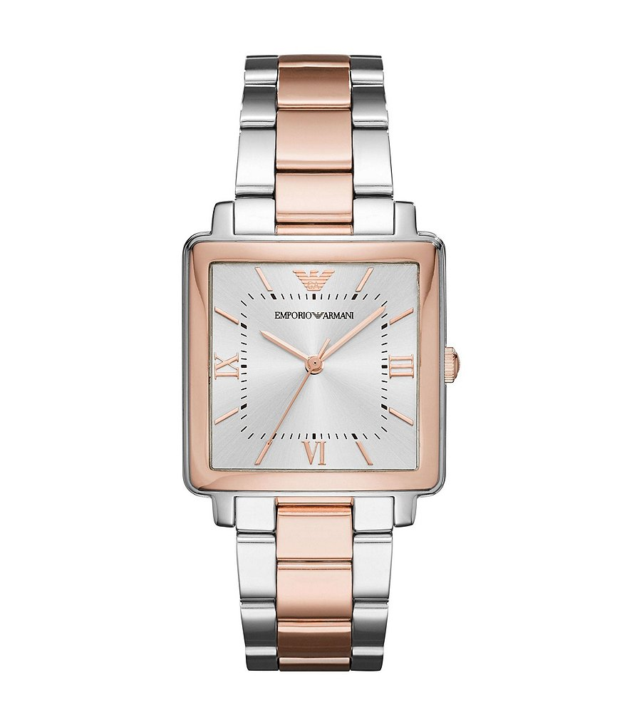 Emporio Armani Ladies Three-Hand Two-Tone Stainless Steel Analog Watch