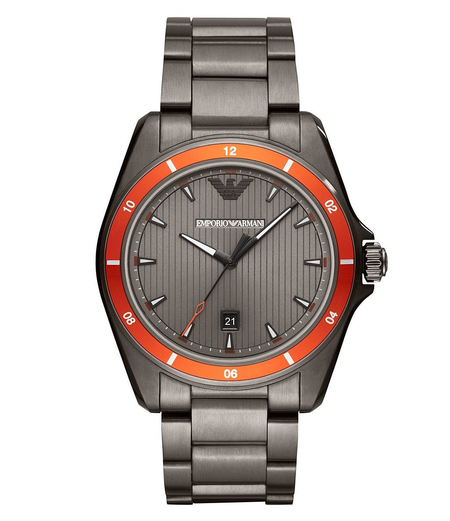 Emporio Armani Sigma 44mm Gunmetal Bracelet Watch