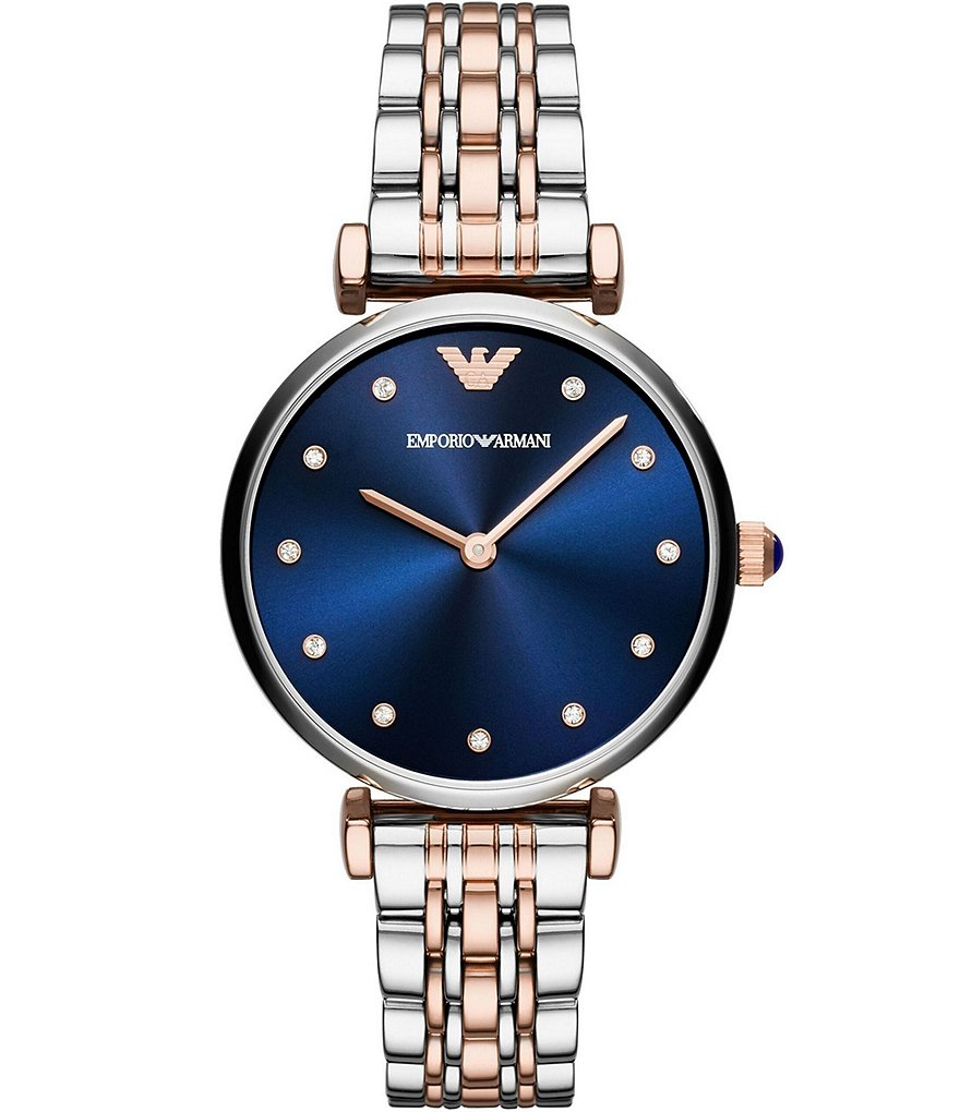 Emporio Armani Two-Tone Analog Bracelet Watch