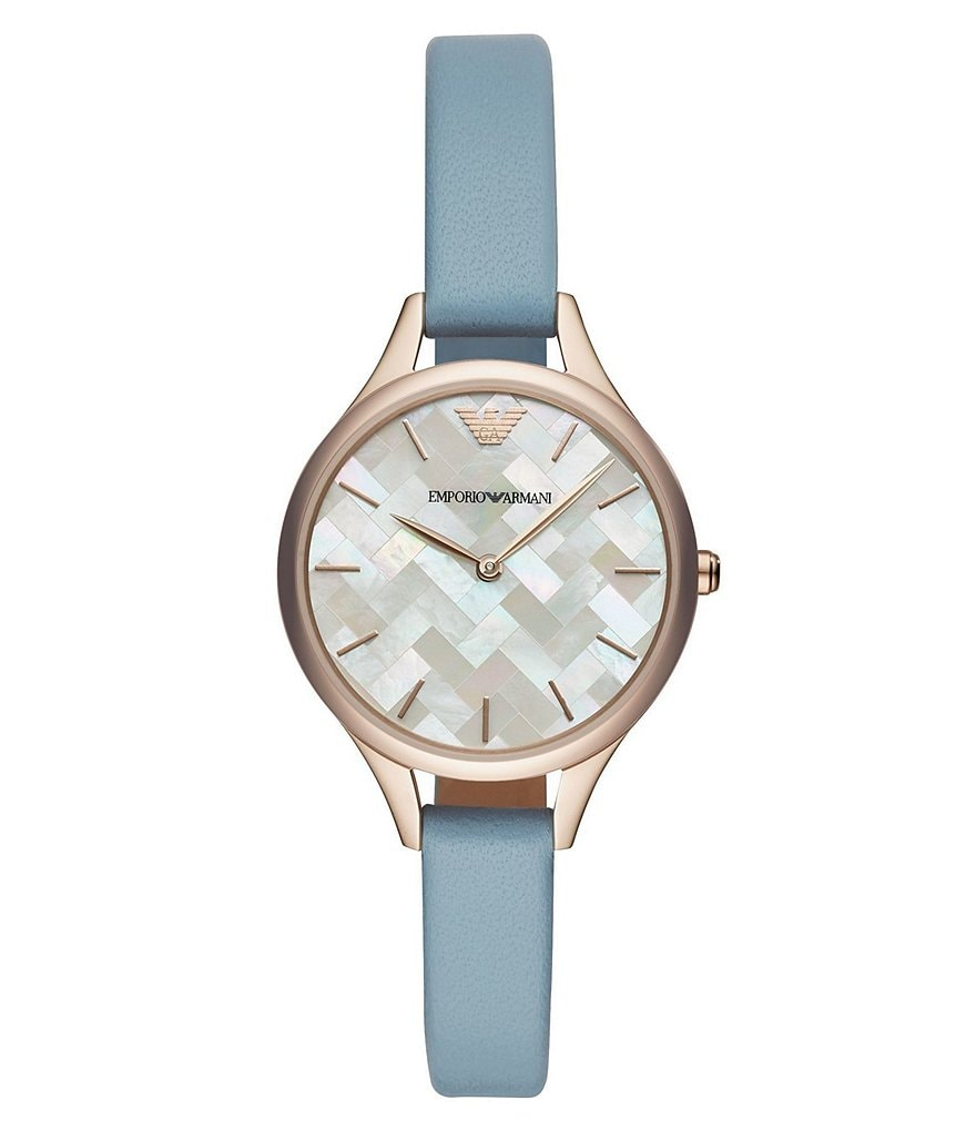 Emporio Armani Women's Blue Leather Watch