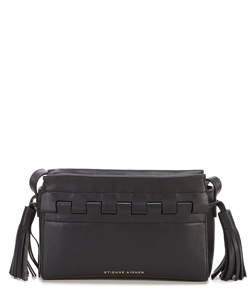 Etienne Aigner Jigsaw Tasseled Cross-Body Bag