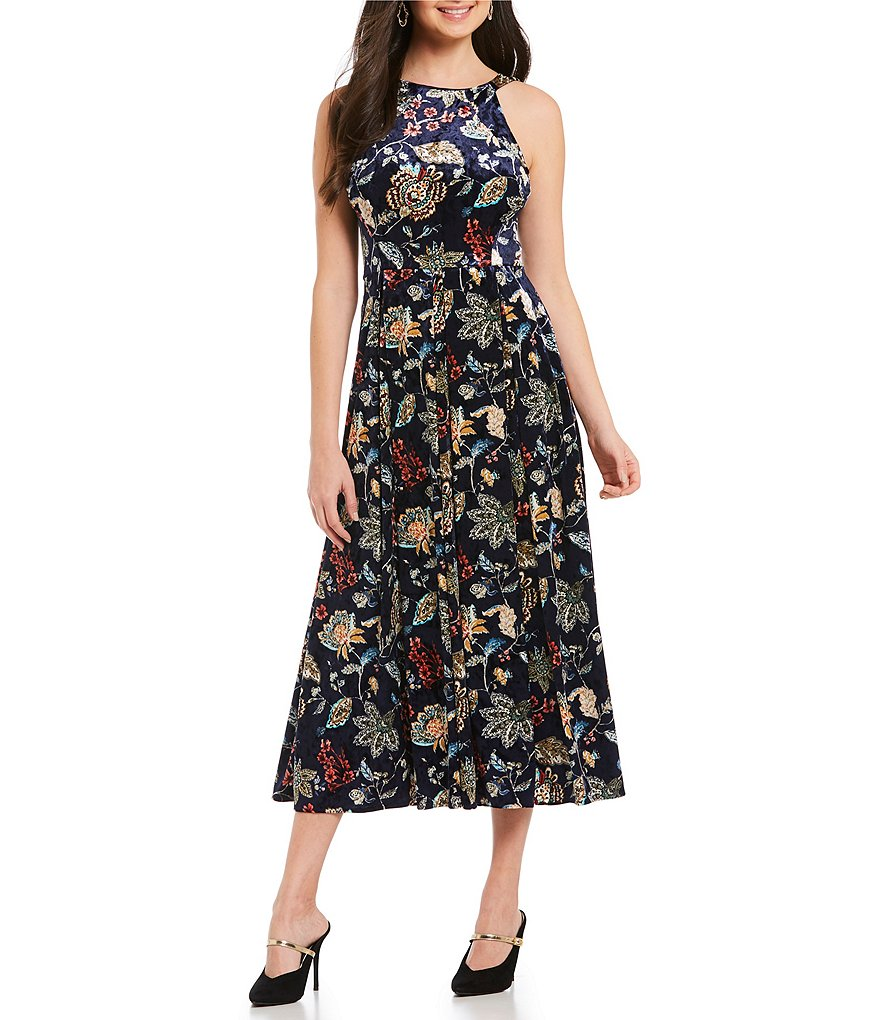 Eva Franco Paisley Velvet Jane Dress
