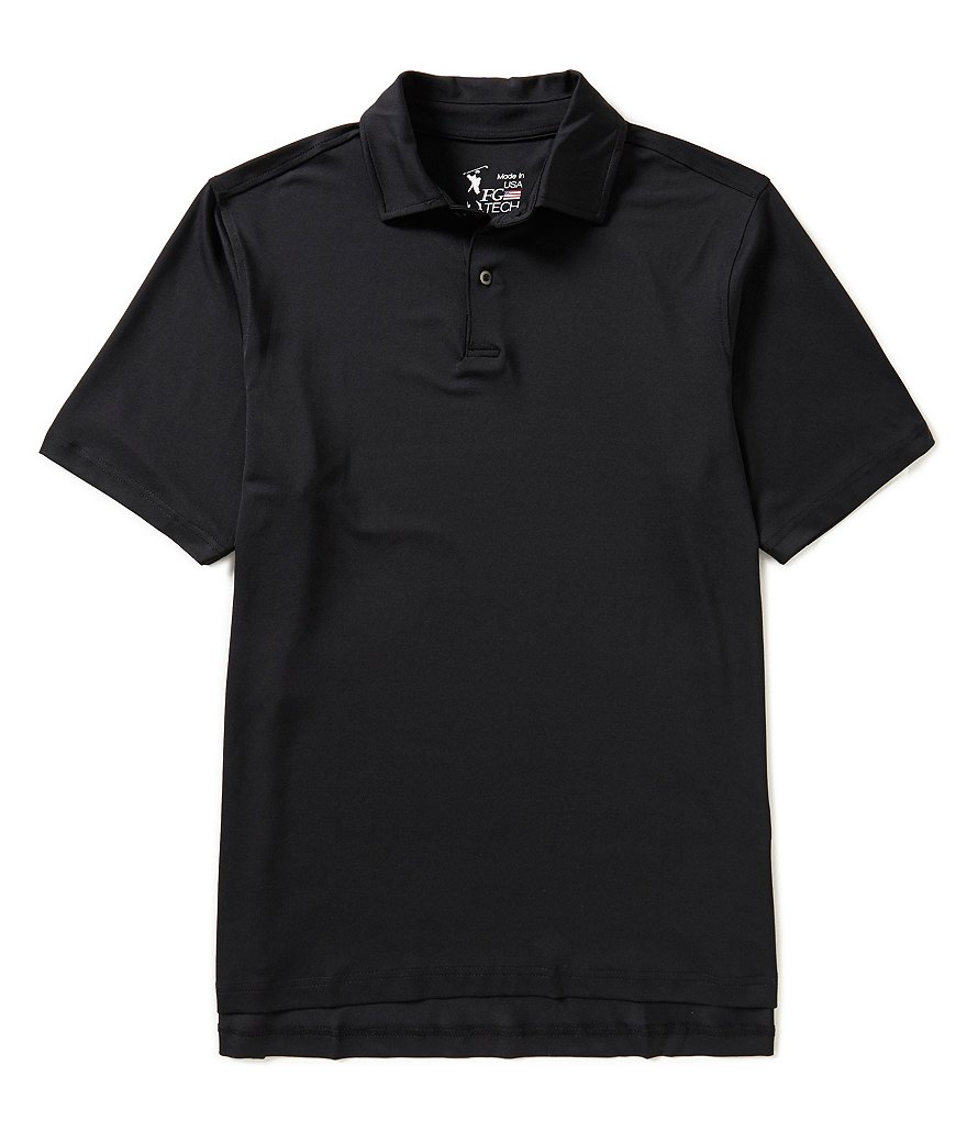 Fairway & Greene Short-Sleeve USA Tournament Solid Tech Jersey Polo Shirt