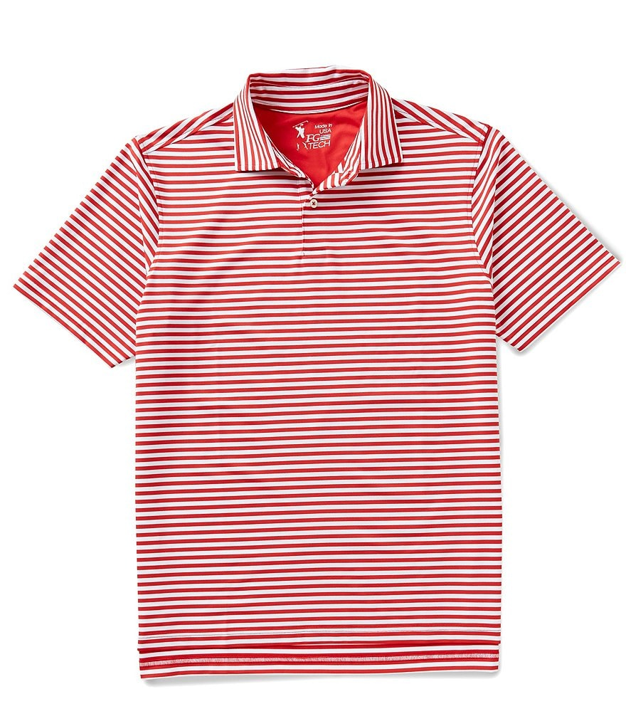 Fairway & Greene Short-Sleeve USA Tournament Horizontal Stripe Tech Jersey Polo Shirt
