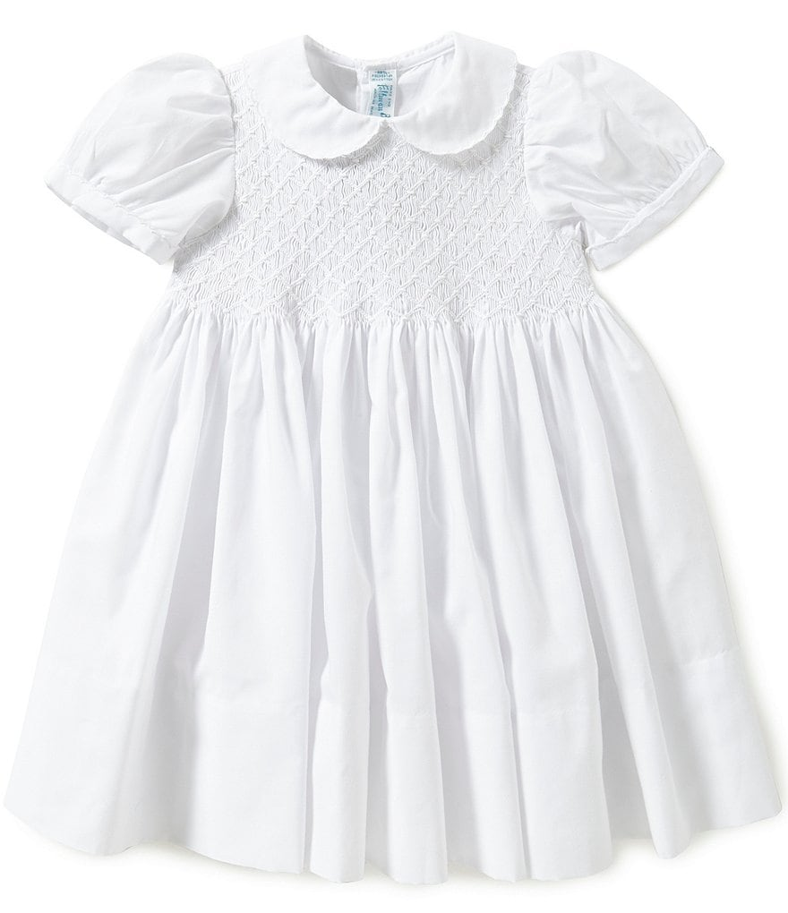 Friedknit Creations Little Girls 2T-4T Diamond Embroidered Smocked Dress