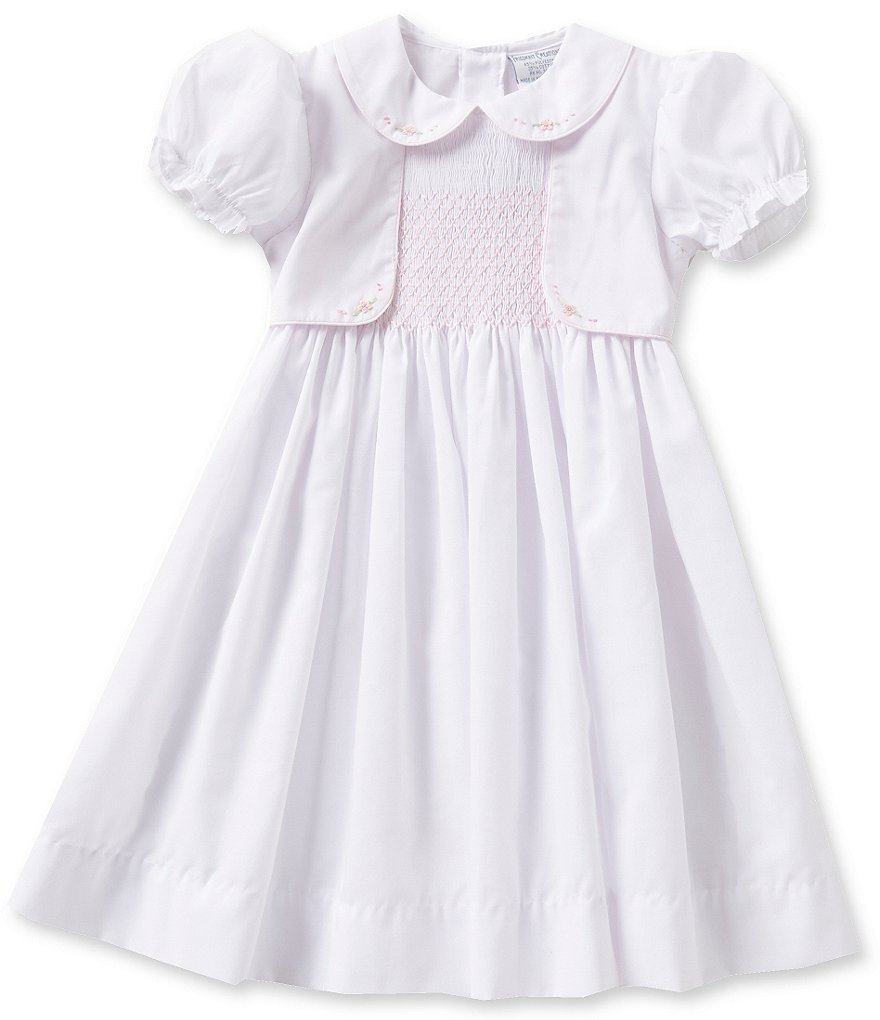 Friedknit Creations Little Girls 2T-4T Mock Vest Dress