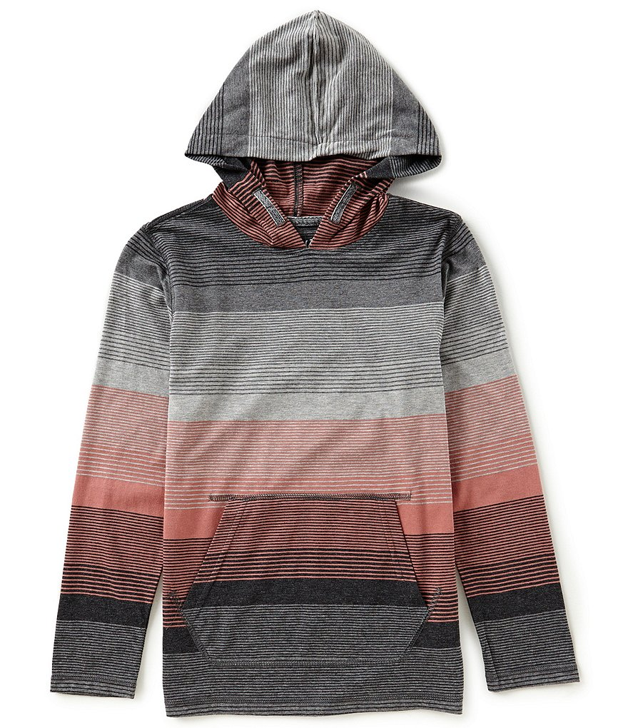 First Wave Big Boys 8-20 Striped Hoodie Shirt