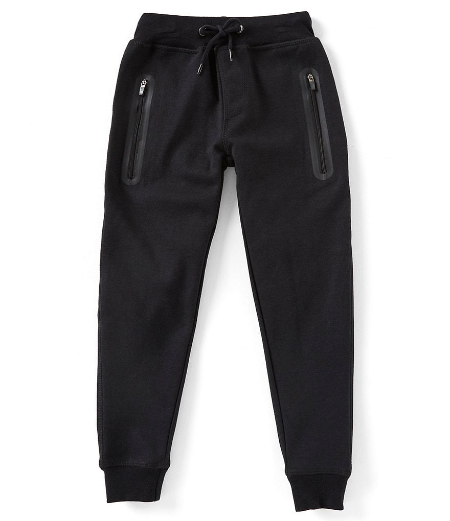 First Wave Little Boys 2T-7 Solid Knit Jogger Pants