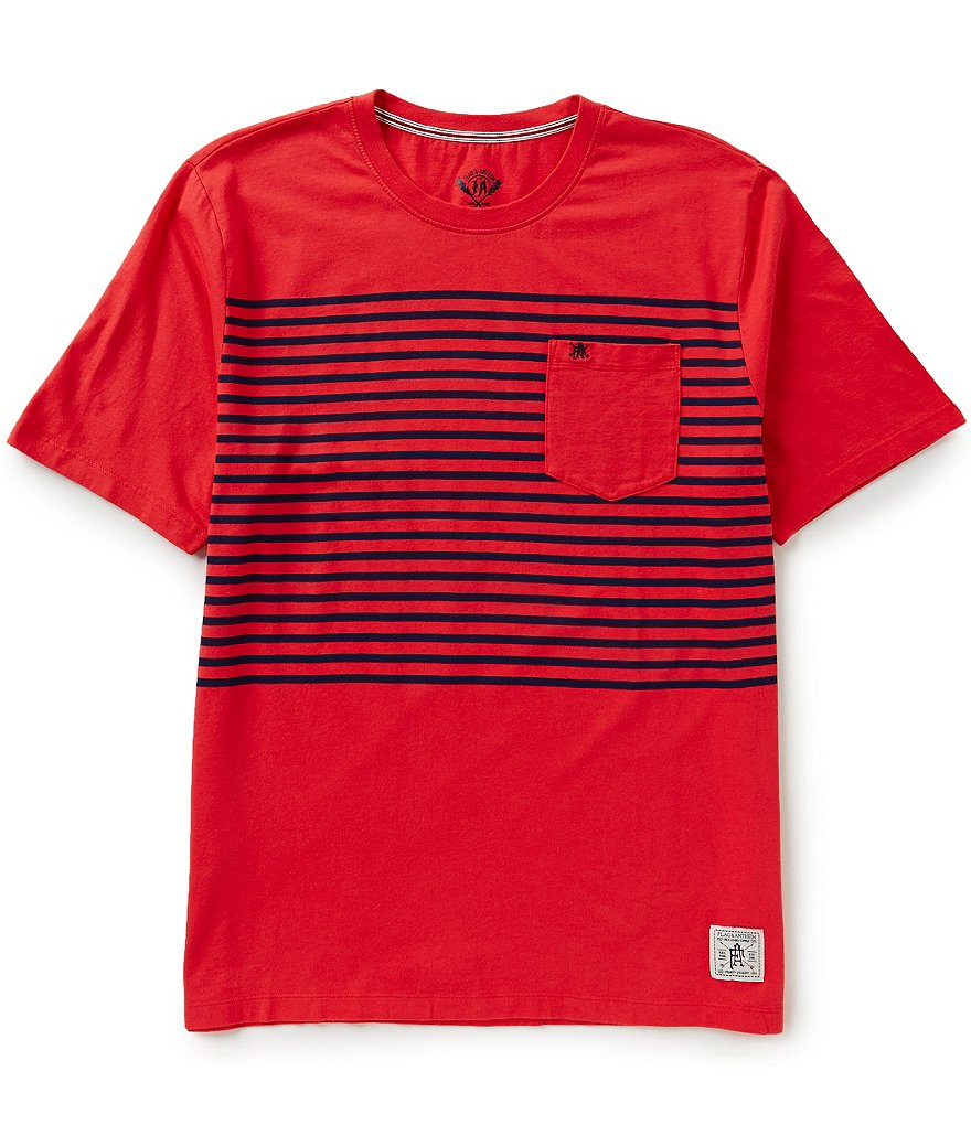 Flag & Anthem Hillsborough Color Block/Horizontal-Stripe Pattern Short-Sleeve Crewneck Pocket Tee