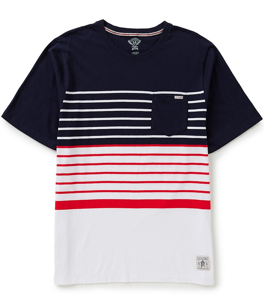 Flag & Anthem Jackson Americana Color Block/Horizontal Striped Short-Sleeve Crewneck Tee
