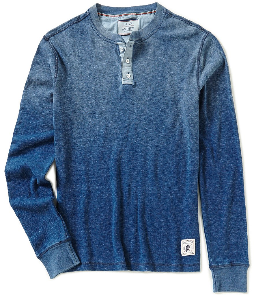 Flag & Anthem Lenox Long-Sleeve Thermal Ombre Henley Tee