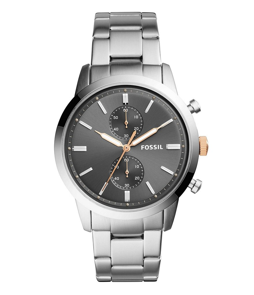 Fossil 44mm Townsman Chronograph Stainless Steel Watch
