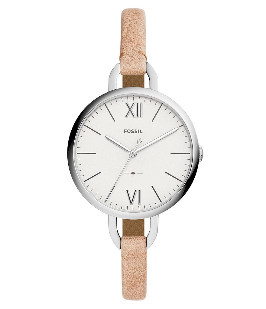 Fossil Annette Three-Hand Sand Leather Watch