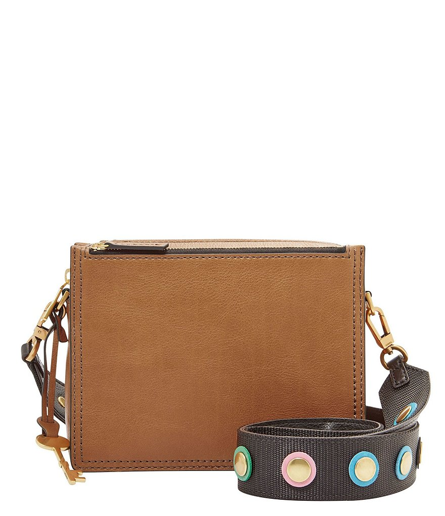 Fossil Campbell Cross-Body Bag with Embellished Strap
