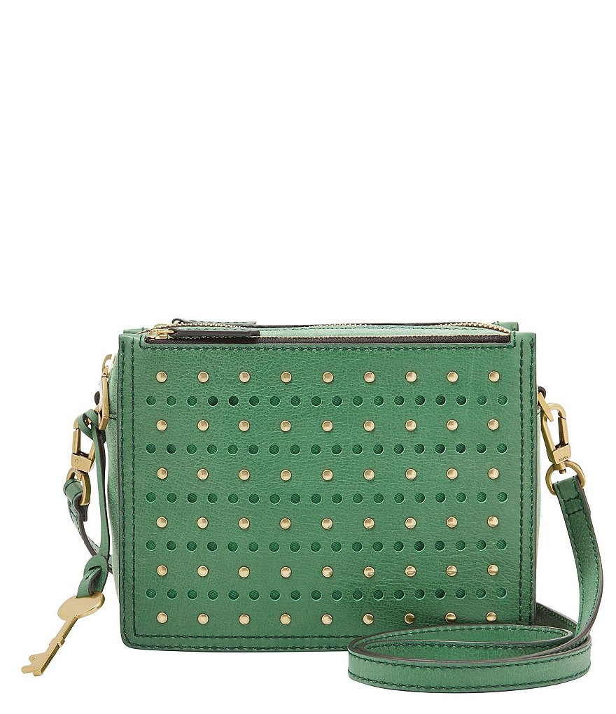 Fossil Campbell Stud & Perforated Cross-Body Bag