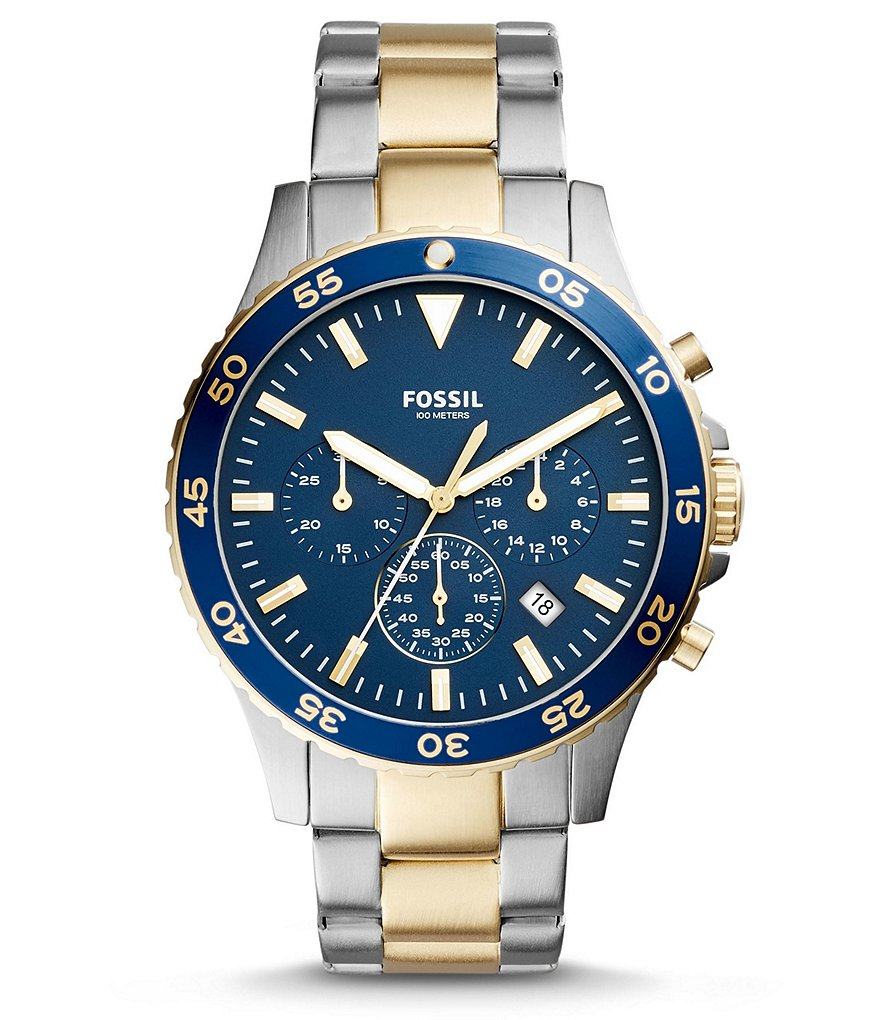 Fossil Crewmaster Sport Chronograph & Date Stainless Steel Bracelet Watch