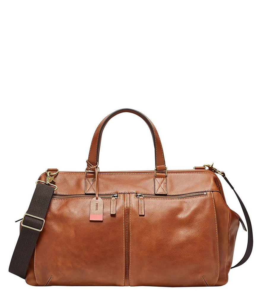 Fossil Defender Framed Leather Duffle