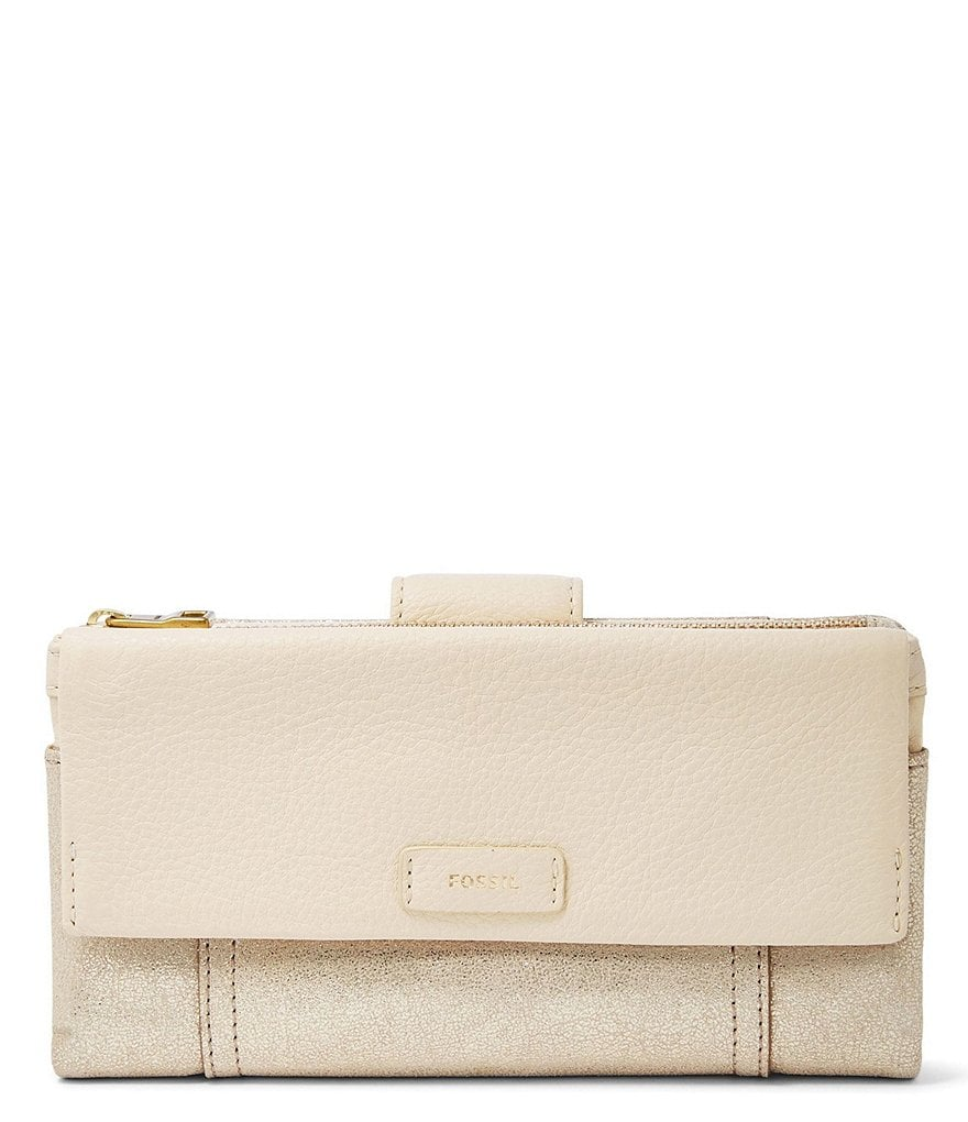 Fossil Ellis Metallic Clutch Wallet