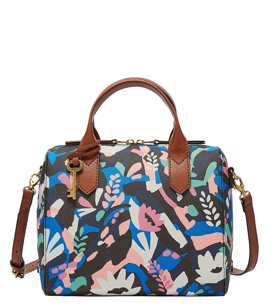 Fossil Fiona Floral Satchel
