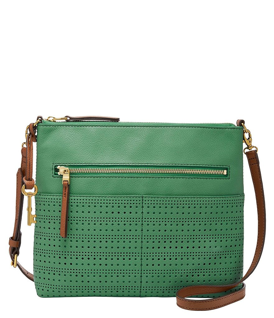 Fossil Fiona Perforated Large Cross-Body Bag