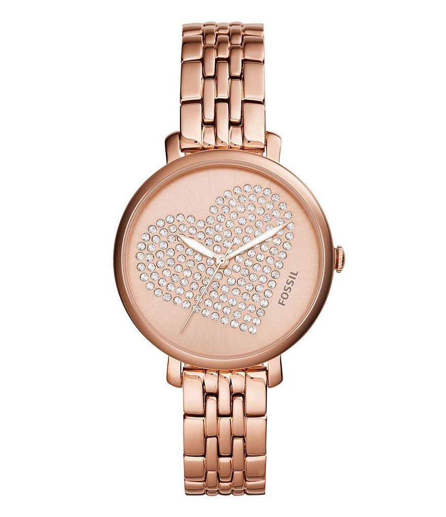 Fossil Jacqueline Three-Hand Rose Gold Watch