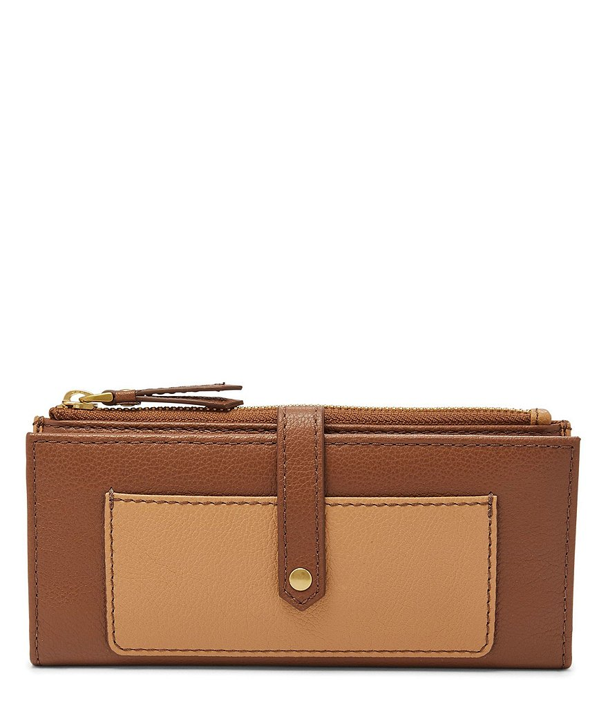 Fossil Keely Color Block Tab Wallet
