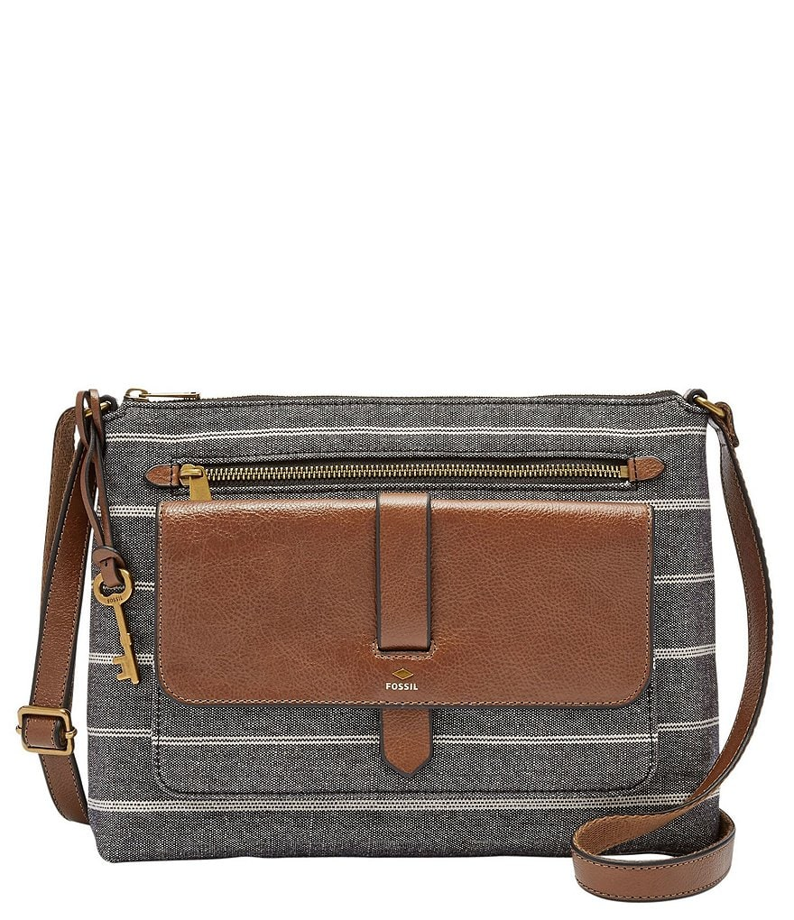 Fossil Kinley Striped Cross-Body Colorblock Bag