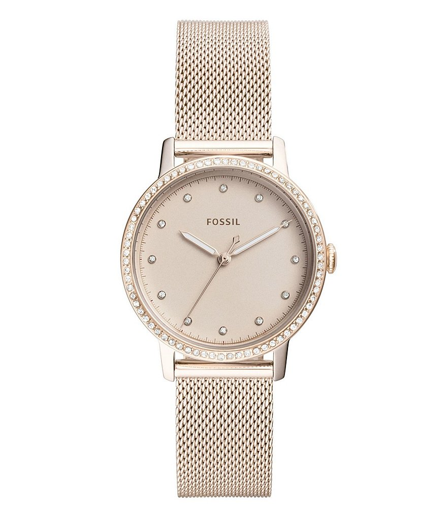 Fossil Neely Three-Hand Pastel Pink Stainless Steel Watch