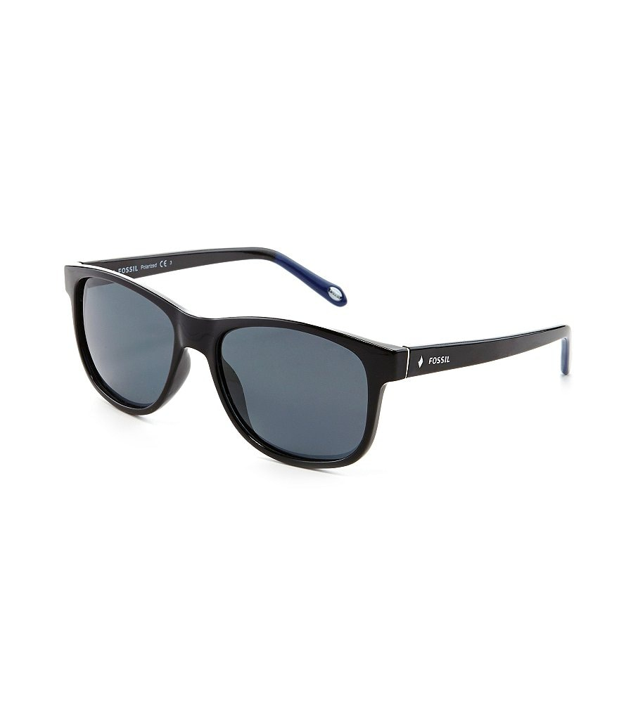 Fossil Polarized Classic Retro Rectangle Sunglasses