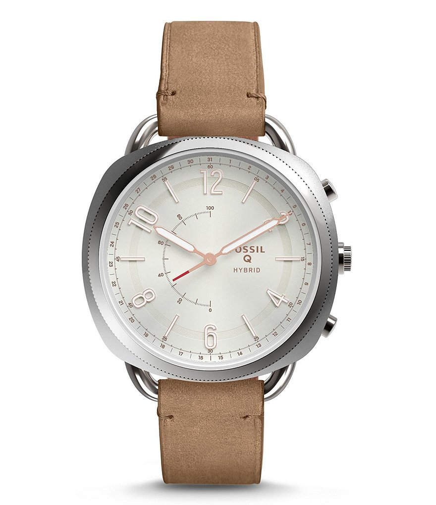 Fossil Q Accomplice Leather-Strap Hybrid SmartWatch