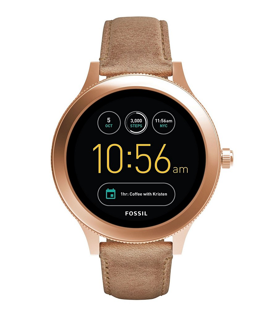 Fossil Q Venture Gen 3 Leather-Strap SmartWatch