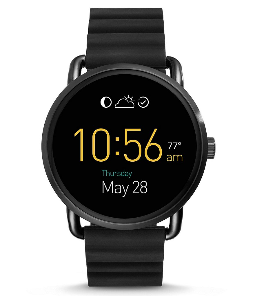 Fossil Q Wander Touchscreen Silicone Smart Watch
