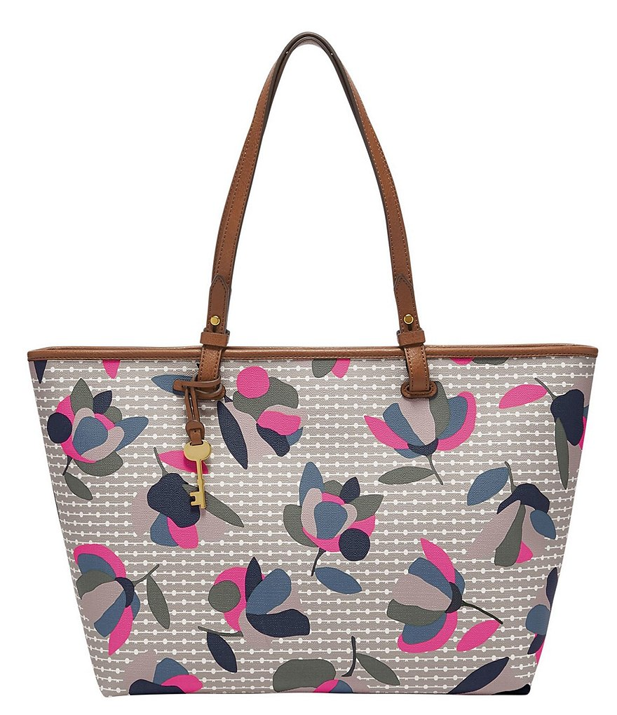 Fossil Rachel Floral East/West Tote