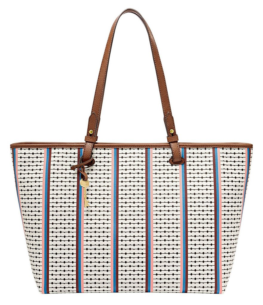 Fossil Rachel Striped East/West Tote