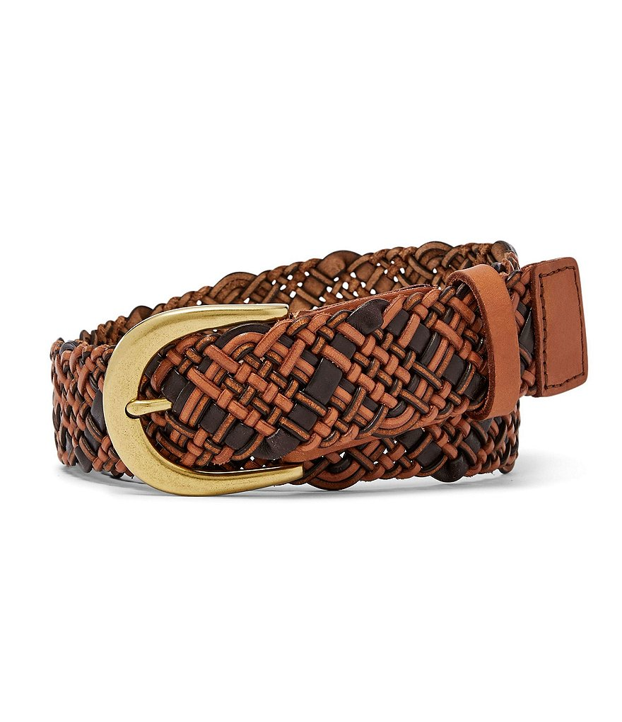 Fossil Woven Leather Belt