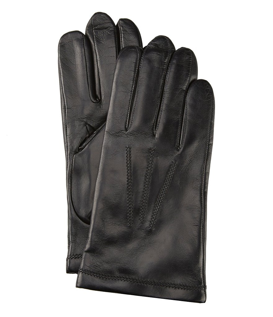 Fownes Cashmere-Lined Leather Gloves