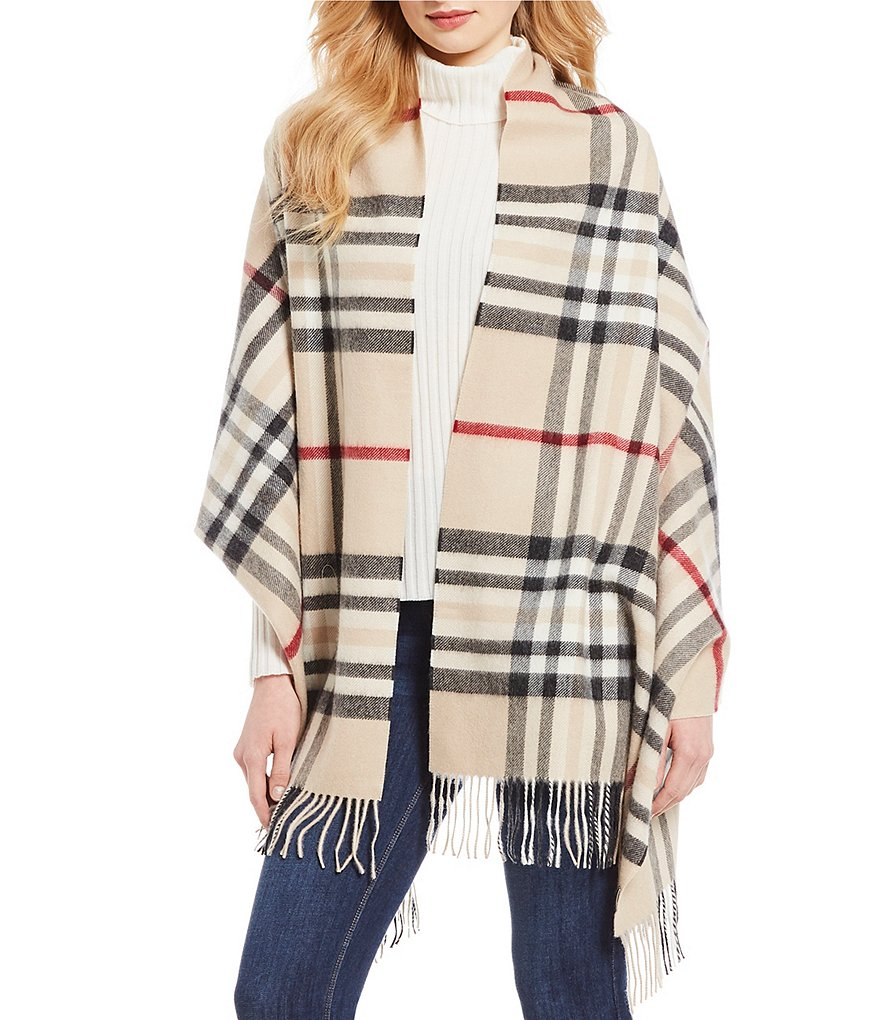 Fraas Exploded Plaid Cashmere Blanket Wrap