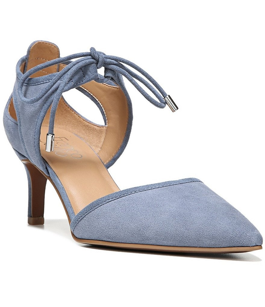 Franco Sarto Darlis Suede d´Orsay Lace-Up Pumps