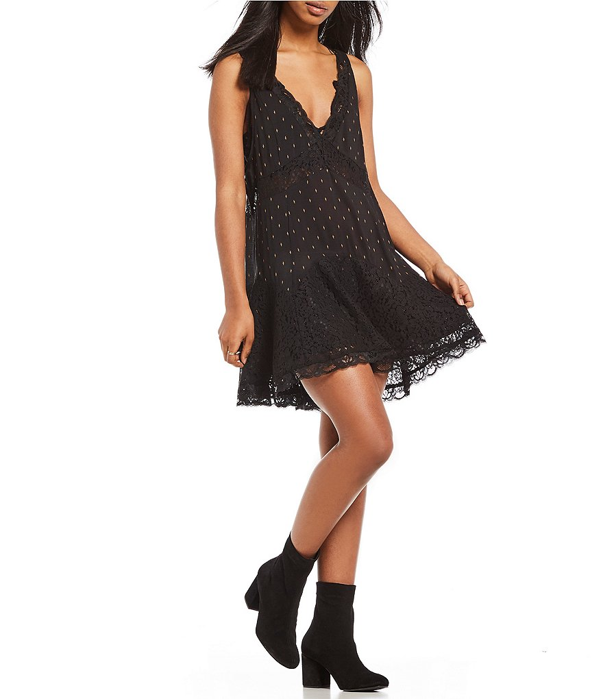Free People Any Party Trapeze Slip Dress