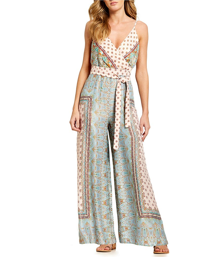 Free People Cabbage Rose Sleeveless Jumpsuit