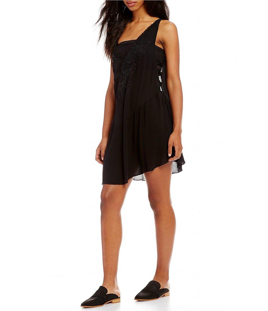 Free People Delphine Embellished Slip Dress | Dillards