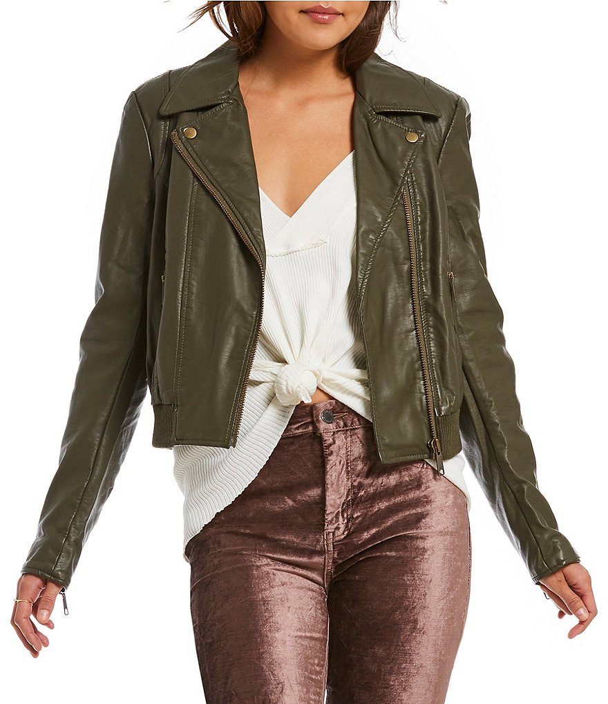 Free People Modern Vegan Moto Jacket
