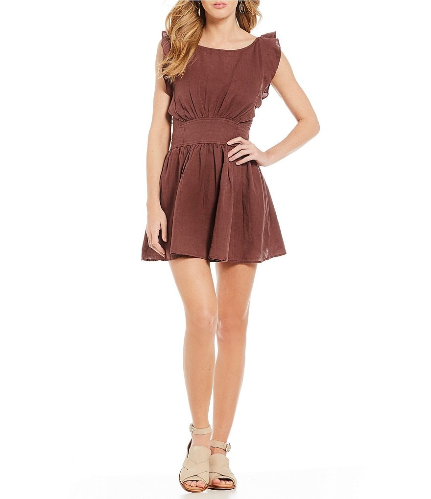 Free People New Erin Fit & Flare Mini Dress