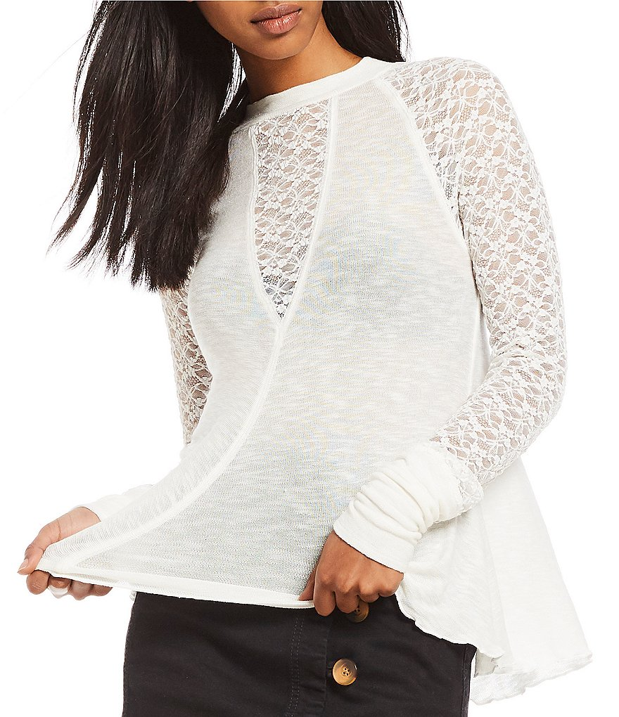 Free People No Limits Layering Sheer Top