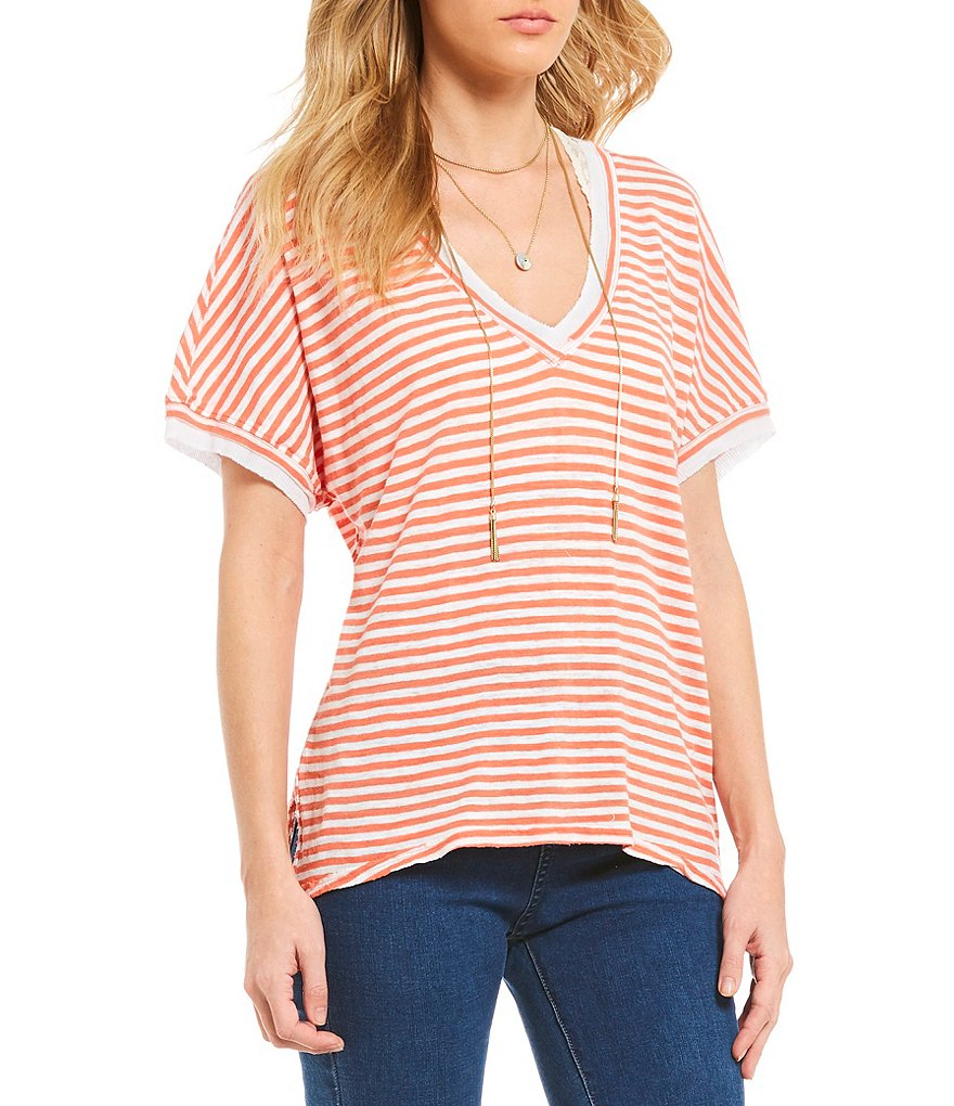 Free People Take Me Stripe Knit Tee