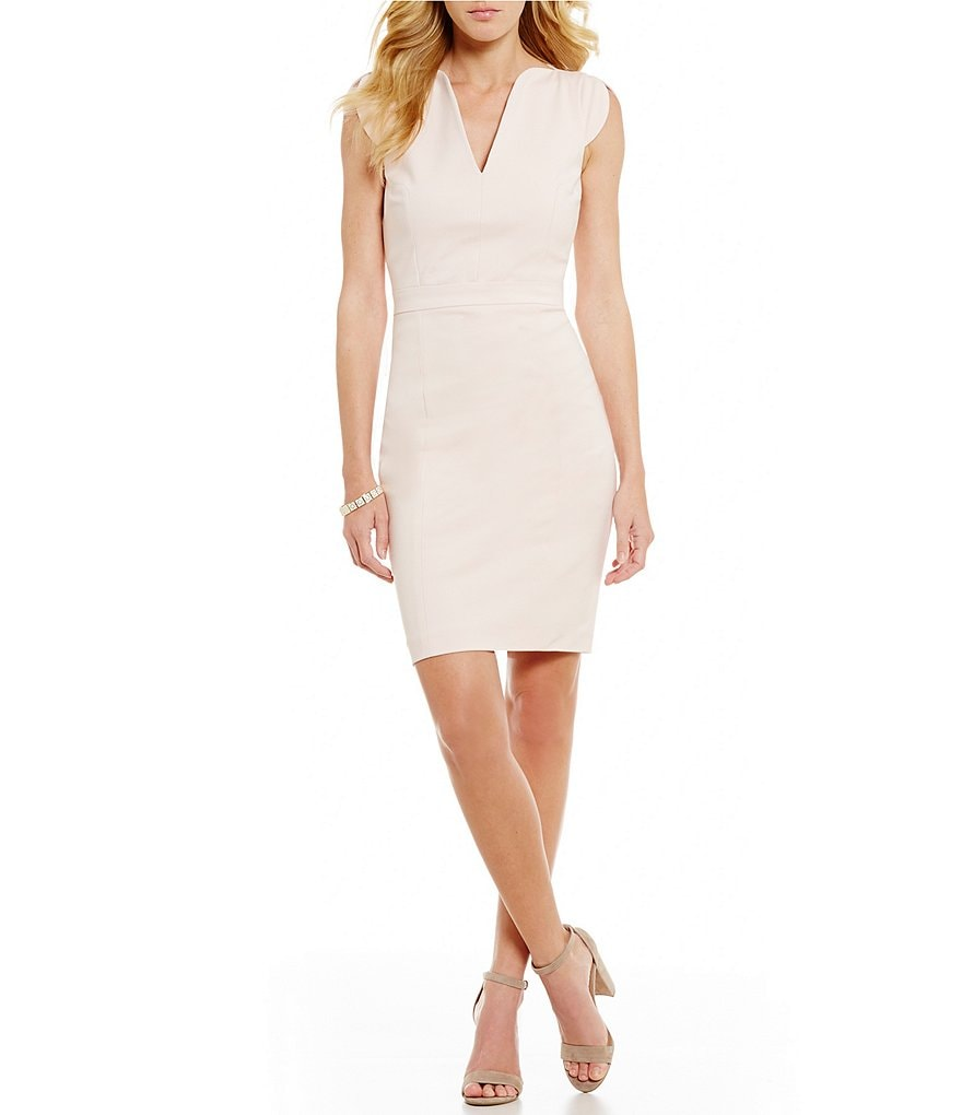 French Connection Lolo Stretch Sheath Fitted Dress