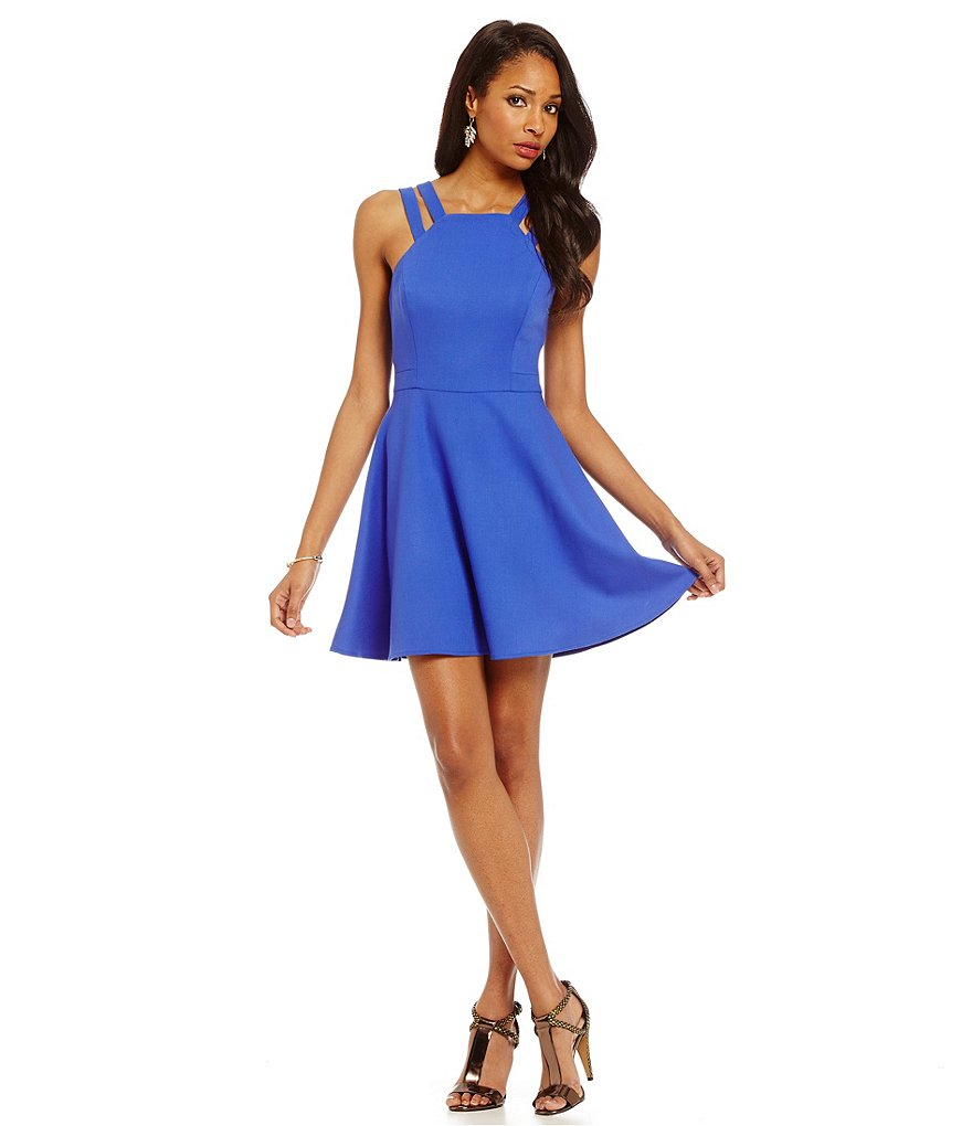 French Connection Whisper Fit and Flare Dress