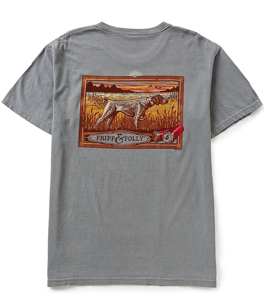 Fripp & Folly Men´s German Shorthaired Pointer Short-Sleeve Graphic Pocket Tee