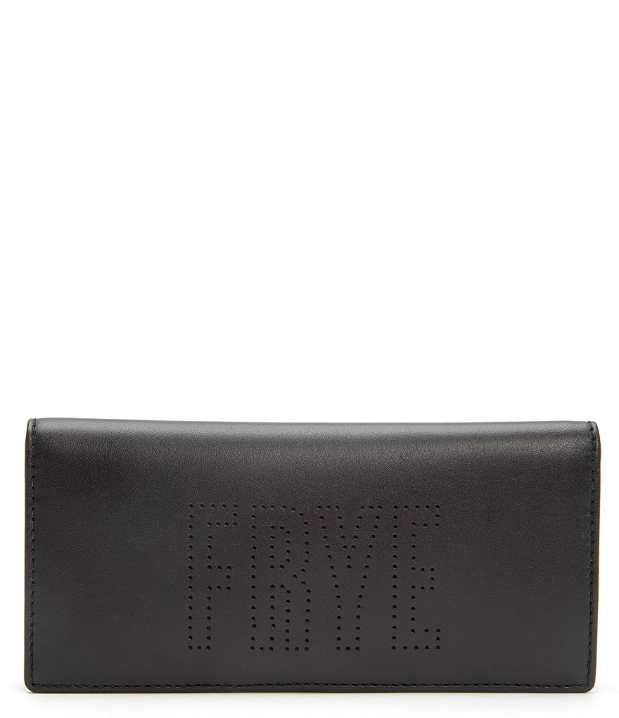 Frye Carson Logo Perforated Slim Wallet
